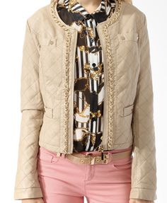 Quilted Chain Trimmed Jacket