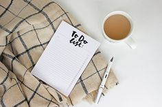 To-Do List Notepad Notebook Hand Brush by ADornanSmithDesign