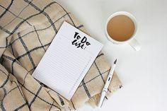 To-Do List Notepad Notebook Hand Brush by ADornanSmithDesign