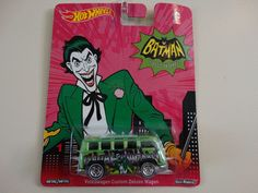 Hot Wheels 2014 Joker Volkswagen Custom Deluxe Wagon 1:64 Batman 66 Classic TV #HotWheels #Volkswagen