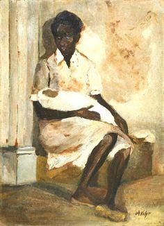 Mãe e filha, s/d Alfredo Volpi (Itália, 1896- Brasil, 1988) óleo sobre cartão, 55 x 40 cm