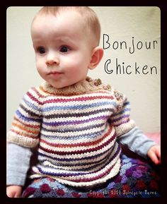 Bonjour Chicken Sweater By Kate Burge And Rachel Price - Free Knitted Pattern - (ravelry)