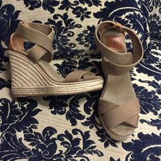 Tory Burch size 9 Tory Burch wedges size 9. Great condition. Comes from a smoke free home Tory Burch Shoes Wedges