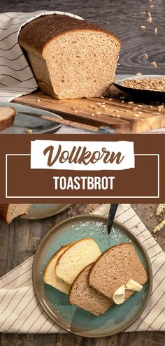 My recipe for super soft and soft toast in 2 variants - classic bright with wheat flour and once with whole grain. Toast bread is a super soft, fine-pored bread, which has only a very thin crust. Easy Bread Recipes, My Recipes, Tostadas, Avocado Bread, Avocado Toast, Bread Toast, Vegan Bread, Clean Eating Dinner, Thin Crust