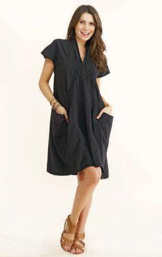 Luna Luz Smock Collar Linen Dress