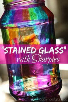 Gather a few Sharpies in different colors and you will be set for all of these AMAZING DIY Sharpie Crafts Ideas. #StainedGlassEasy