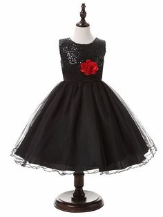 3-14yrs Hot Selling Baby Girls Flower sequins Dress High quality Party  Princess Dress Children kids clothes 9colors 1b55a9eff34b