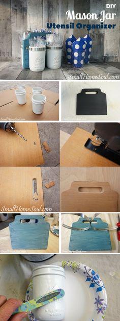 Check out the tutorial: #DIY Mason Jar Utensil Organizer @istandarddesign