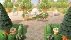 ― Asa of Fjorgyn⛅( 「~ finished this little plaza a couple of days ago, pretty happy with how it turned out but it needs…� Animal Crossing 3ds, Animal Crossing Villagers, Post Animal, My Animal, Plaza Design, Motifs Animal, Entrance Design, Animal Games, Island Design