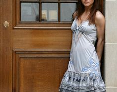 upcycled clothing . slip dress . just a few dreams