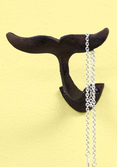 Whale-Known Style Wall Hook. Make a splash of panache in your home with this fin-shaped wall hook! #gold #prom #modcloth