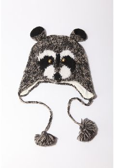 People keep giving him knitted animal hats for Christmas.
