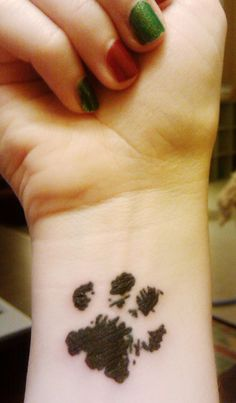 watercolor paw print tattoo - Google Search