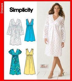 Maternity Sewing Patterns, Dress Sewing Patterns, Sewing Patterns Free, Clothing Patterns, Maternity Dress Pattern, Free Sewing, Knitting Patterns, Crochet Patterns, Simplicity Sewing Patterns
