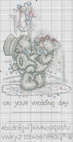 Мишки Тедди - вышиваем крестиком, схема