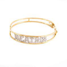 Bracelete nome cravejado em ouro branco com diamantes ouro 18k