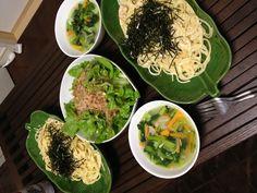 明太パスタ&じゃこサラダ&小松菜スープ