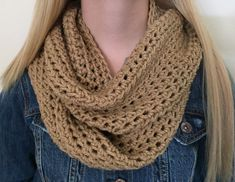 Chunky Infinity Scarf Thick Crochet Bulky Winter by CalmBeforeDawn