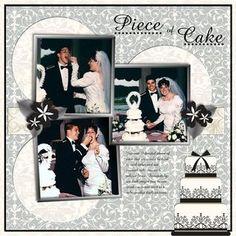 Piece of Cake Divine Wedding Day Digital #Scrapbooking Layout from Creative Memories  http://www.creativememories.com  #scrapbooking