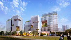 dmp WORKS - 성수동 지식산업센터 Healthcare Architecture, Office Building Architecture, Industrial Architecture, Facade Architecture, Landscape Architecture, Mix Use Building, Tower Building, High Rise Building, Archi Design