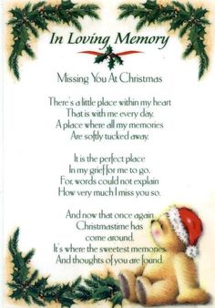 This is so sweet and perfect for those of us who are missing loved ones at Christmas (or any other time of the year).Merry Christmas in Heaven! Miss Mom, Miss You Dad, Mom And Dad, Will Miss You, Dad Poems, Grief Poems, Brother Poems, Missing Loved Ones, Missing Dad