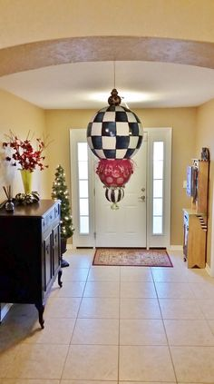 """Giant Hand Painted Christmas Kissing Ball by LucyDesignsonline 17"""" long"""
