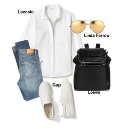 """""""#fashion #minifashionicon"""" by minifashionicon on Polyvore featuring Lacoste, Citizens of Humanity, Gap, Linda Farrow and Loewe"""