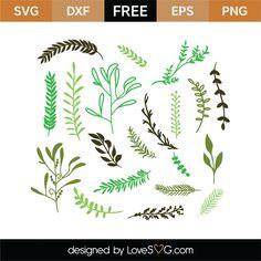 Free Nature Elements 1 SVG Cut File