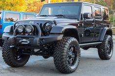 """Brand New, Fully Loaded 2015 Rubicon AEV 4.5"""" Lift with 37"""" Toyo Tires Katzkin Two-Toned Leather Interior AEV Premium Front and Rear Bumpers AMP Power Steps"""