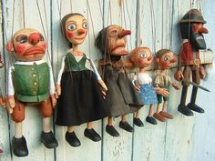 Ruzicka Brothers – czech woodcarvers, carving of puppets and marionettes Paper Dolls, Art Dolls, Puppets For Sale, James Ensor, Types Of Puppets, Wooden Puppet, Hansel Y Gretel, Punch And Judy, Marionette Puppet