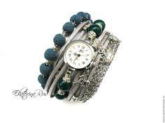 """Assista artesanal.  Mestres Fair - feito à mão.  Compre elegantes relógios """"Ratio Time"""" com pedras.  Handmade."""