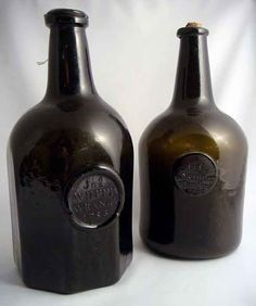 English late 18th century sealed wine bottles – R110,000 (£9650) at Rudd's.
