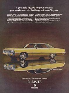1969 Chrysler Newport Car Ad Vintage Advertising by AdVintageCom