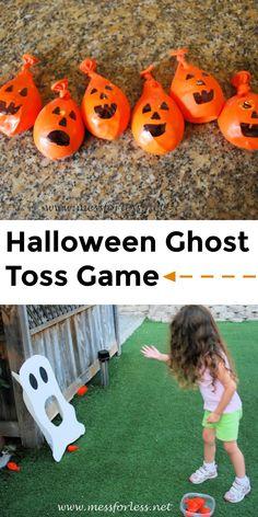 Ghost Toss Halloween Game
