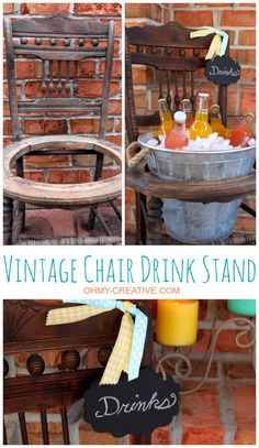 """I have great post today it is called """"The Best 10 Ways To Repurpose Old Chair And Give a New Life"""".It's so hard sometimes to part with things,"""