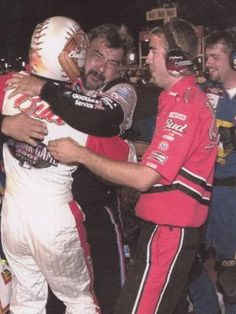 Dale's win @ Daytona July 2001 with Chocolate Myers  Emotional win.  Chocolate Myers was proud and emotional as Dale Earnhardt wins at Daytona 5 months after his father was killed there in the season opener.