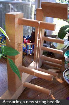 measuring a string heddle