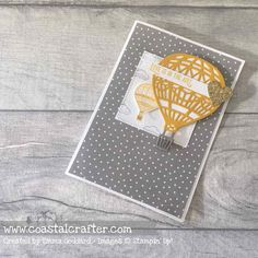 Card using Stampin Up Lift Me Up stamp & die bundle 2017 occasions catalogue #GDP072 | Coastal Crafter