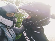 Love is everything ❤️ #motorcycle #love #motocouple #pair #onepassion #helmets
