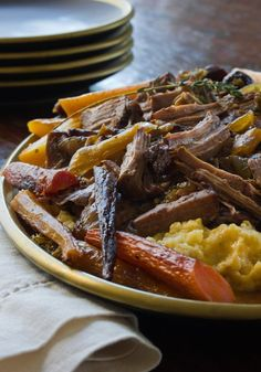 Slow Cooker Recipe: Savory Maple & Dijon Pot Roast. Carol hit it out of the park with this one!