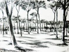 Doria Pamphili / Kohlezeichnung, 40 x 30 cm, 2015 30th, Charcoal Sketch, Painting