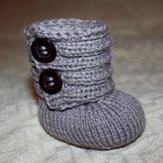 Knitting PATTERN (pdf file) - Baby Booty Boots