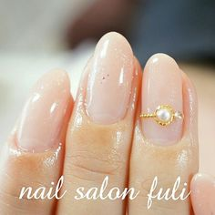 ラメの入ったミルキーベージュでグラデーション シンプルさが大... How To Do Nails, My Nails, Wedding Nails, Nail Art Designs, Hair Beauty, Stud Earrings, My Favorite Things, Simple, Manicures