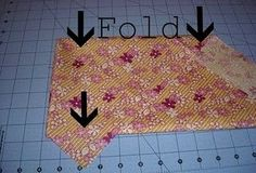 How to fold fabric for cutting bias strips.. Cause i always forget!.