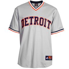 Detroit Tigers Majestic Cooperstown Cool Base Team Jersey - Gray - $99.99