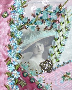 I ❤ crazy quilting, beading & embroidery . . . Pink Lady Cellphone Pouch ~By Kitty and Me