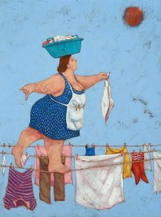 Galleria 4 – dal 2014 al 2016 – Lisandro Rota Plus Size Art, Fat Art, Fat Women, Naive Art, Clothes Line, Funny Art, Whimsical Art, Illustrators, Art Drawings