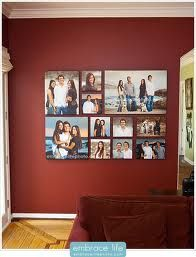 canvas photo collage - different sized canvases