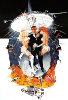 Robert McGinnis  Originator of the famous James Bond stance with Bond  holding (yes, it's true), a .22 marksman's pistol (not McGinnis' fault).  Co-painted, with Frank McCarthy, a number of dramatic scenes for  Thunderball, then Your Only Live Twice. Was solo artist for 007 for  Diamonds Are Forever, Live And Let Die, and The Man With The Golden Gun.  McGinnis was responsible for a wide range of movie art, from  blaxploitation to westerns to comedies to Bond knock-offs. Arguably