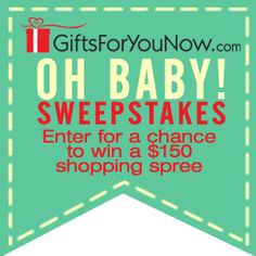 We're celebrating the arrival of new personalized gifts for baby by giving away a $150 Shopping Spree to GiftsForYouNow.com.  Sign up here for your chance to win!    More great news!  Shop GiftsForYouNow.com this week and save 20% off Baby & Kids personalized items.  Use Coupon Code: BABY20DM at checkout.   No purchase necessary. Winner will be selected at random and posted on Facebook on or about October 23, 2013.  Winner will also be notified by email.   Click here for Official ...